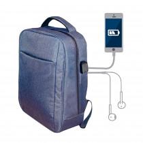 Blaupunkt BLP0280.116 Mochila con Cargador USB, Toma de auriculares, Cómoda, Resistente, Azul