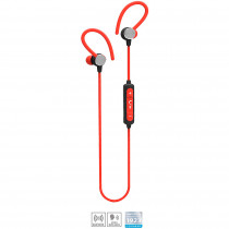 Blaupunkt BLP4620.141 Auriculares Bluetooth Deportivos In Ear, Micrófono, Manos Libres, Inalámbricos, Fitness, Color Rojo