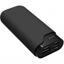 Blaupunkt BLP7300 Power Bank 5000 mAh, Batería Externa, Cargador con Puertos USB, Micro USB y Tipo C, para IOs, Android, Móviles, Tablets, Negr