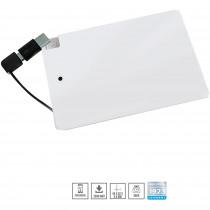 Blaupunkt BLP7800 Power Bank 2500 mAh, Batería Externa, Cargador con cable 2 en 1, para IOs, Android, Móviles, Tablets, Blanco