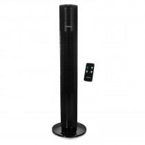 Briebe TFN123015 Ventilador de Torre Silencioso con Mando a Distancia, Temporizador, oscilante, 3 Velocidades, 80cm, negro