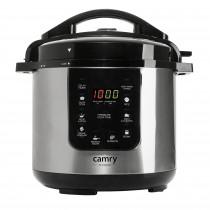 CAMRY CR-6409 Olla Express programable, Cocción Lenta, 6 litros, cubeta Antiadherente extraíble, 8 modos de funcionamiento, Temporizador, Mantener caliente, 1500 W