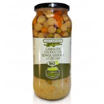 Guillermo Garbanzos Cocidos con Quinoa, Verduras y Cúrcuma Ecológicos BIO Categoría Extra Conserva Tarro 540gr