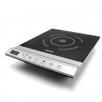 MPM MKE-12 Placa de Inducción portátil, superficie de cristal, Control Táctil, 10 niveles de Potencia, Temporizador, Programable, 1800 W