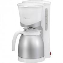 Clatronic KA 3327 - Cafetera de goteo con jarra termo, capacidad 8 - 10 tazas, 1 l, 870 W, color blanco y plata