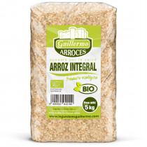 Guillermo Horeca Arroz Integral Granel Redondo Ecológico BIO Marisma de Doñana para paellas y risottos 100% Natural 5kg