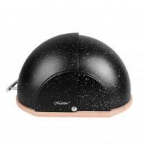 Maestro MR-1678-G Panera de Mesa para Guardar Pan, Tapa Deslizante, Contenedor para Almacenamiento Pan y Bollería, Diseño Moderno, Negra
