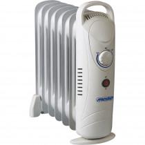 Mesko MS 7804 Mini Radiador de Aceite, 700W, 7 Elementos, Regulador de Temperatura, Termostato, Bajo Consumo, Portátil, Protección Sobrecalentamiento, Blanco