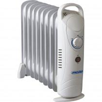 Mesko MS 7805 Mini Radiador de Aceite, 1000W, 9 Elementos, Regulador de Temperatura, Termostato, Bajo Consumo, Protección Sobrecalentamiento