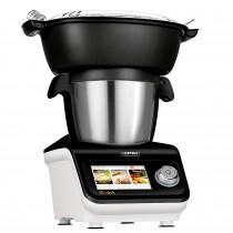 MPM iCoook MRK-18 Robot de Cocina Multifunción 3,5 L, Termorobot Inteligente, Cocina al Vapor, Sous Vide, Sofríe, Amasa, Bate, Ralla, Licúa, Pesa, 8 Programas Automáticos 12 Velocidades Turbo 1300W
