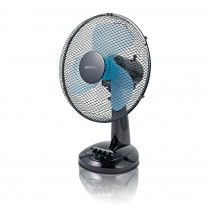 MPM MWP-16/C Ventilador portátil de sobremesa oscilante, 3 velocidades, 34cm, negro, 40W