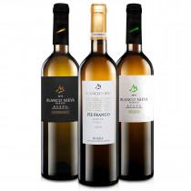 Martúe Lote Degustación Vino Blanco Nieva D.O. Rueda, Verdejo, Pie Franco, Sauvignon Blanc, Pack 3 botellas