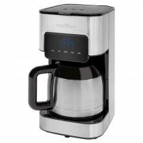 Proficook KA 1191 Cafetera Programable Eléctrica de Goteo Automática, Máquina Café de Filtro, 8 - 10 Tazas, 1,2 Litros, Función Mantenedora Calor, 900 W, Negro / Acero Inoxidable