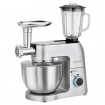 Proficook KM 1189 Robot de Cocina con Batidora Amasadora 6,7 litros con 3 Accesorios, Picadora Carne y Embutidora de Salchichas, Batidora Vaso 1,5L, Cuerpo Metal, 1300W