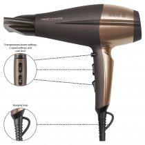 Proficare HTD 3010 - Secador de pelo profesional iónico, 3 niveles de temperatura, 2 temperatura, 2200 W, color marron