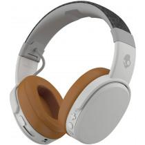 Skullcandy Crusher Over-Ear Bluetooth, Auriculares Inalámbricos con Micrófono, Espuma Viscoelástica con Aislamiento de Ruido, Estéreo Ajustable, Batería con 40h de Duración, Blanco / Marrón.