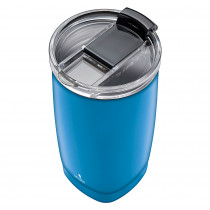Smile STT-14/6 Taza Térmica Café, Vaso Termo con Tapa para Llevar, 350ml, sin BPA, Bebidas Calientes hasta 8 horas / Frías hasta 12 horas, Aislamiento Doble Pared Acero Inoxidable, Reutilizable, Azul