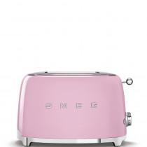 Smeg TSF01PKEU Tostadora 2 rebanadas, 6 niveles de tostado, 2x2 50' Style Rosa, 950W