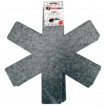 Vitrinor Set 3 Protector Textil de Sartenes y Ollas, Tela Gris, Ideal para Evitar Rayaduras en Sartenes y Ollas con Antiadherentes, Acero Inoxidable o Cerámica