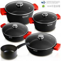 WECOOK Ecostone Batería de Cocina inducción 5 Piezas Aluminio Fundido 3 Capas Antiadherente sin PFOA