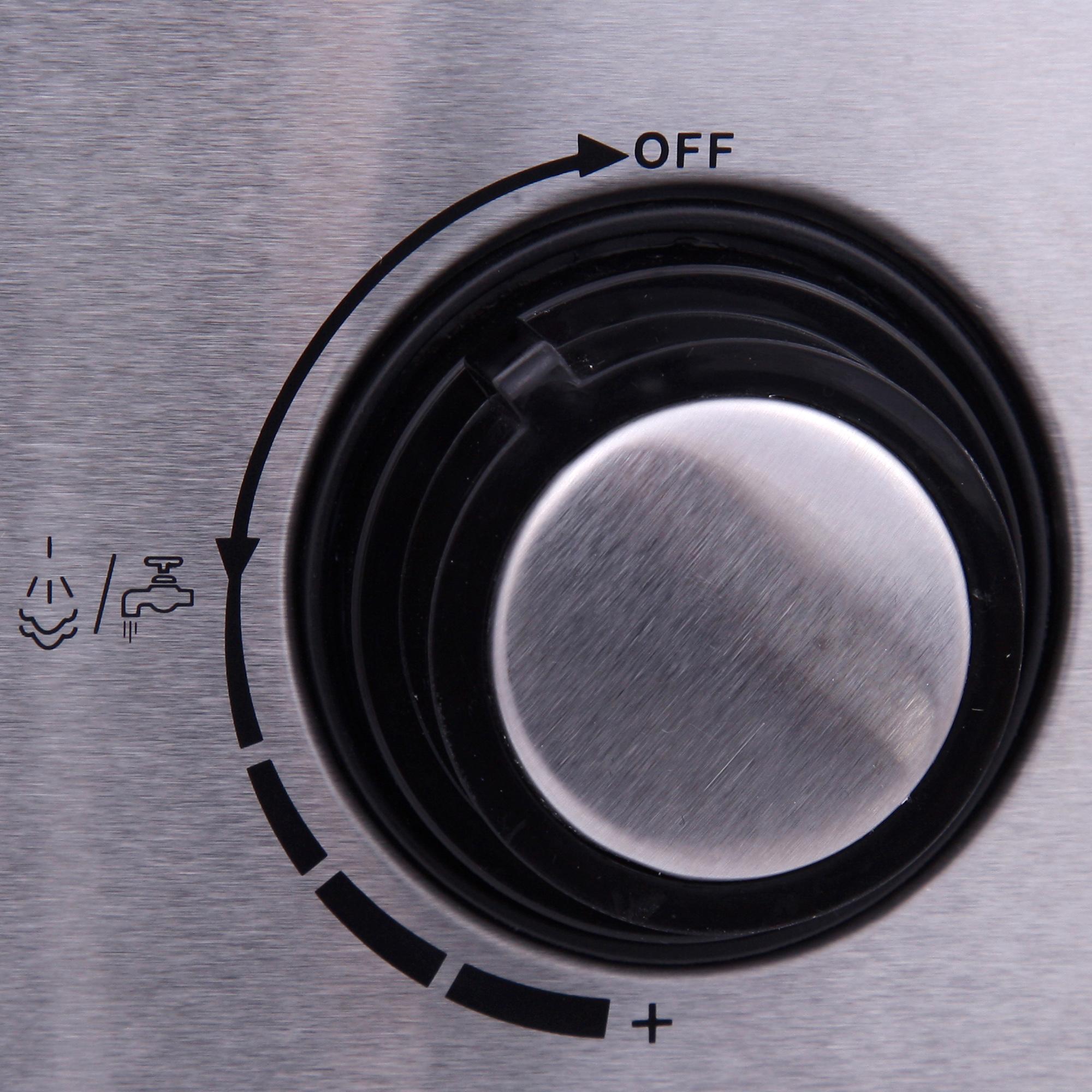 Mesko MS 4403 Cafetera Expreso manual 15 bares, depósito 1,6L, brazo doble salida, vaporizador para espumar leche, calienta tazas, cuerpo acero inoxidable 850W