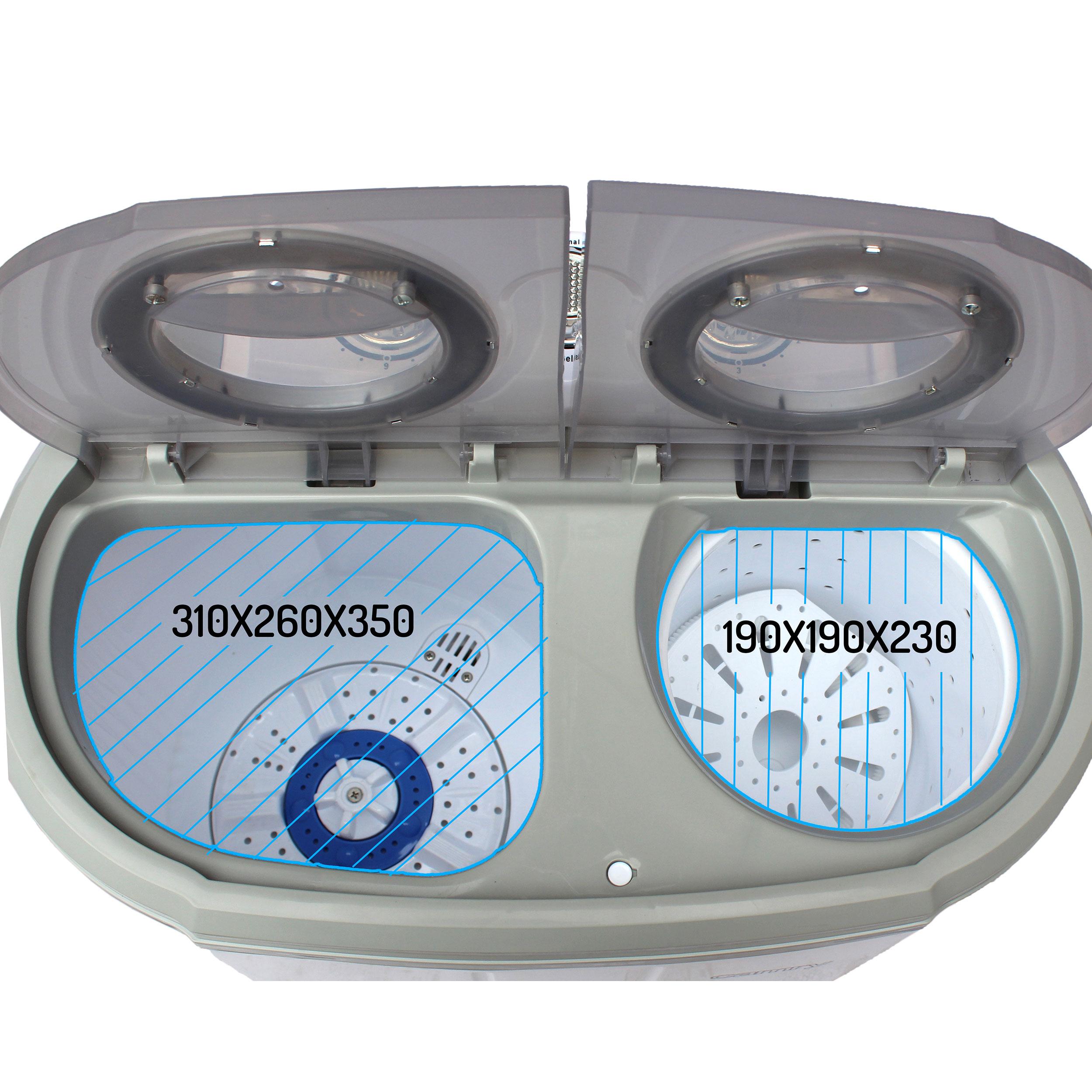 Camry CR8052 - Mini Lavadora Centrifugadora Portátil, 3Kg lavado ropa, 1Kg Centrifugado