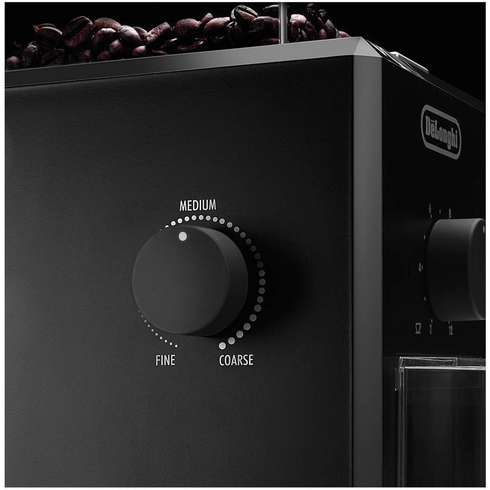 Delonghi KG 79  - Molinillo de café profesional eléctrico con sistema de muelas, ajuste de molienda, 12 tazas café, 110 W