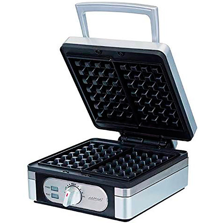 MPM MGO13 Gofrera Profesional para 2 gofres Belgas gruesos, regulador de temperatura, placas antiadherente, carcasa acero inox, 1400W
