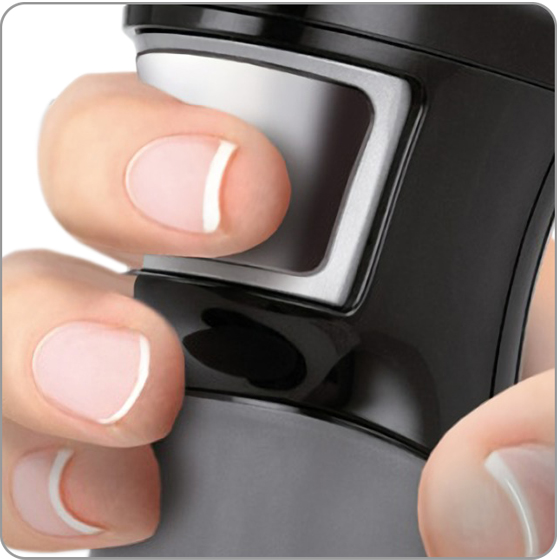 MPM MBL-29/C Set Batidora de Mano Picadora y Varillas, con Accesorios, Acero Inoxidable, Función Soft Touch 1200 W, Libre de BPA