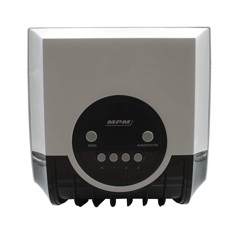 MPM MKL-01 Climatizador evaporativo enfriador aire portátil, oscilante, función humidificador purificador aire, depósito 8L, cajón hielo