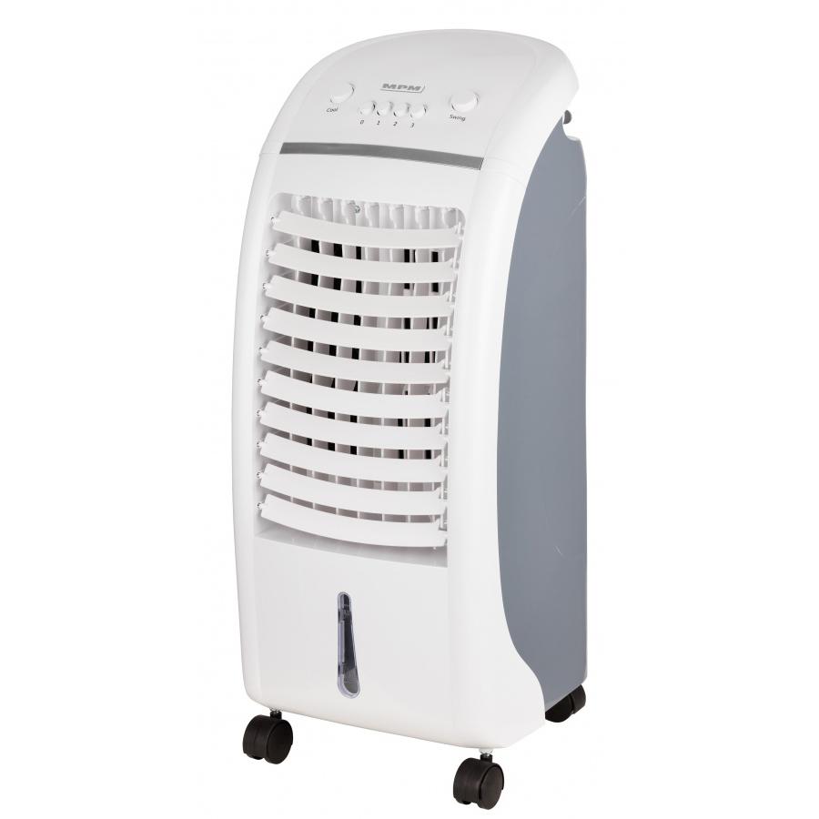 MPM MKL-02 Climatizador evaporativo enfriador aire portátil, oscilante, función humidificador purificador aire, depósito 6L, cajón hielo
