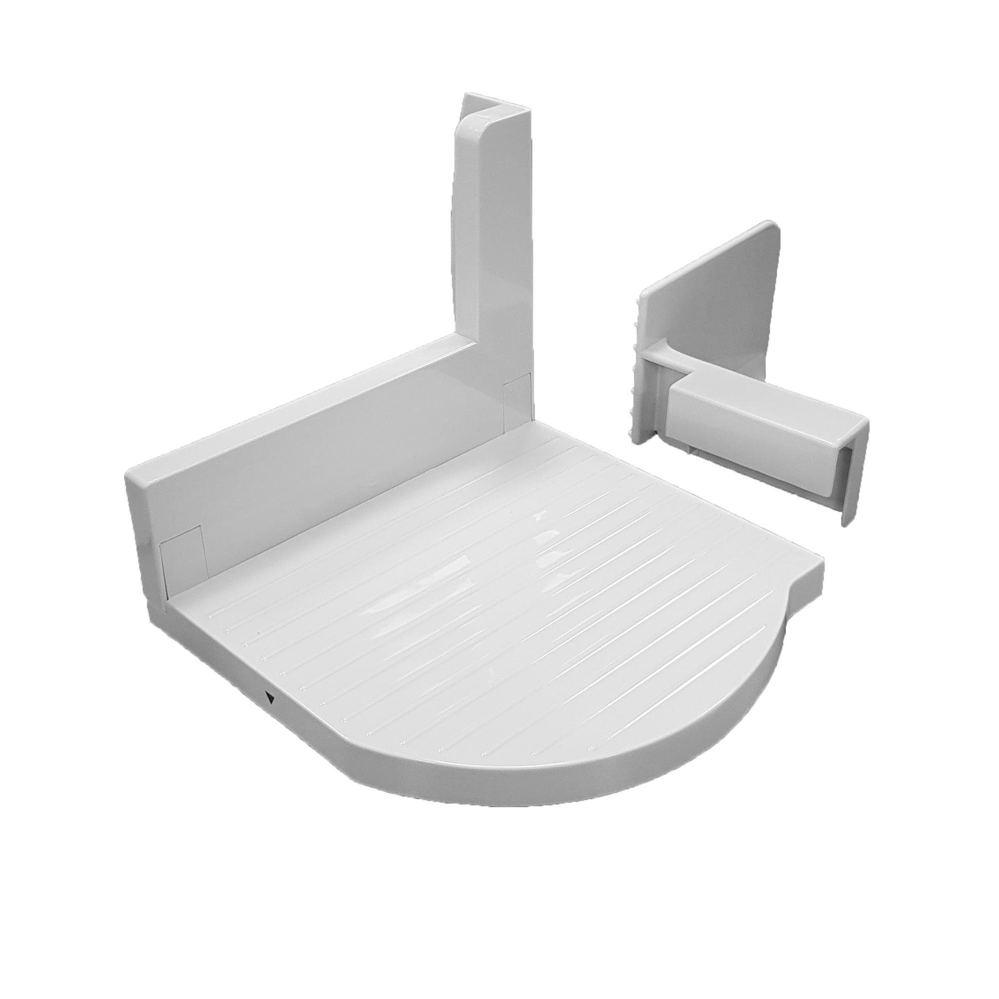MPM MKR-03 Cortafiambres plegable blanco, grosor de corte ajustable 15mm, disco corte 17 cm, 150 W