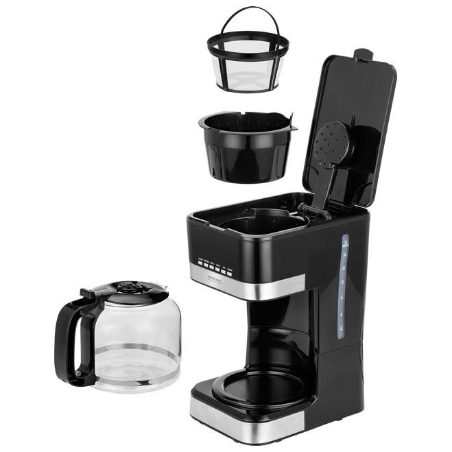 MPM MKW-05 Cafetera programable eléctrica goteo automática , máquina café filtro capacidad 15 tazas, 1.8 litros, Display LCD
