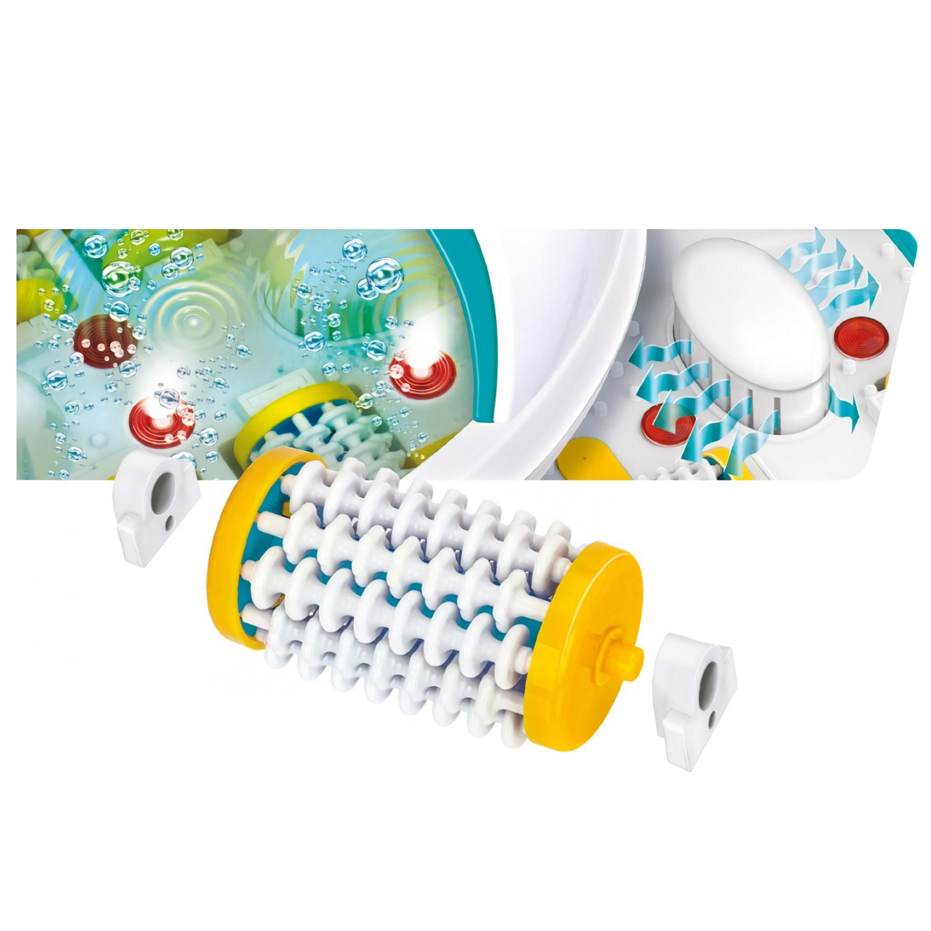 MPM MMS-03 Masajeador de Pies con Agua, masaje de Burbujas y por vibración, Mantener Temperatura, infrarrojos, Contenedor para Sales, 90 W