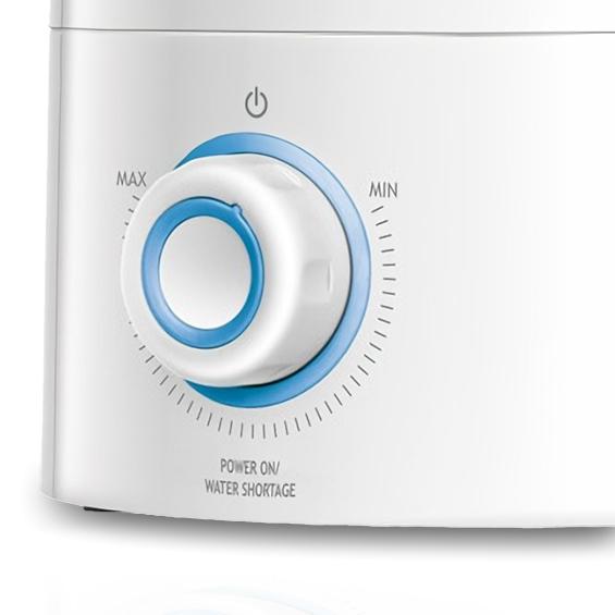 MPM MNP-03 Humidificador Ultrasónico Silencioso, Aceites esenciales, 300 ml/h, Grande, 5 Litros, Filtro de Cerámica, 30 m², 50 Horas, Eléctrico, Blanco