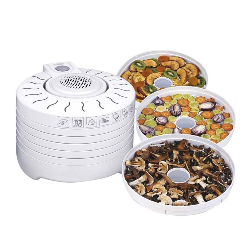 MPM MSG-01 Deshidratador de Alimentos Eléctrico, 5 Bandejas expansibles de 28 cm, frutas, setas y verduras, 250W