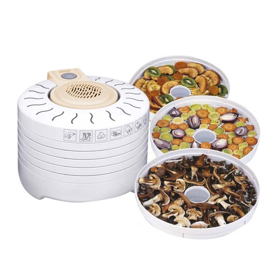 MPM MSG-03 Deshidratador de Alimentos Eléctrico, 5 Bandejas expansibles de 28 cm, frutas, setas y verduras, 250W