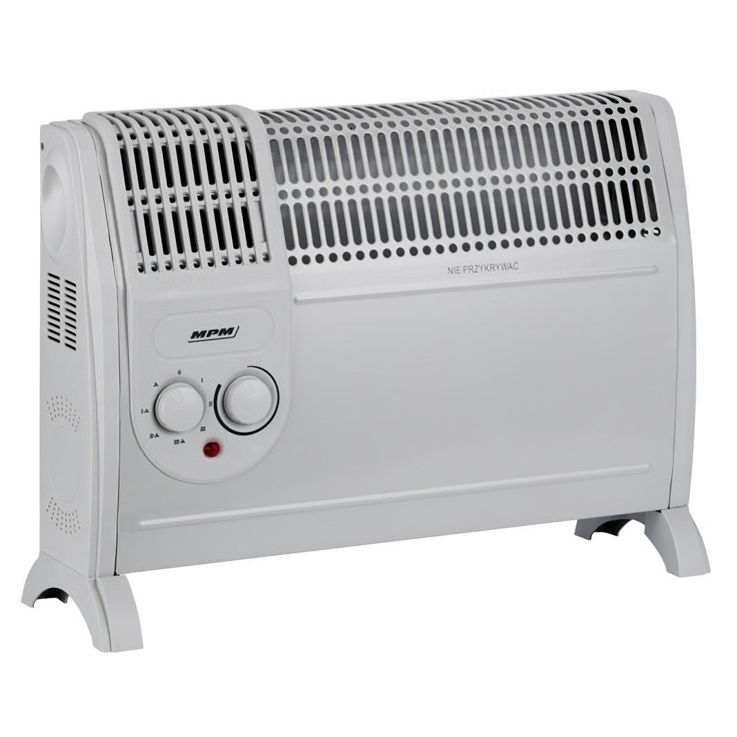 MPM MUG-07 Convector aire caliente con termostato regulable para un bajo consumo, 3 niveles potencia, silencioso, (800W 1200W 2000W)