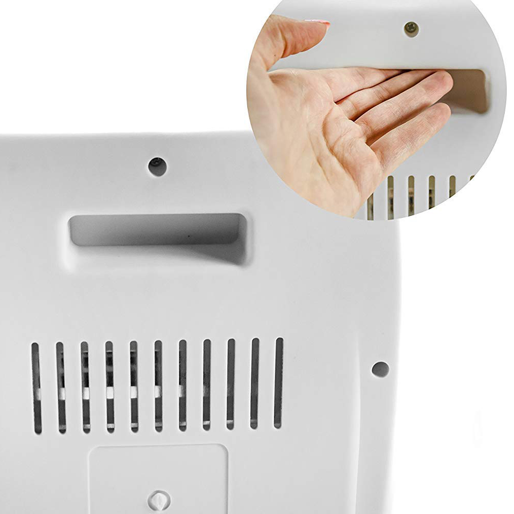 MPM MUG09 Estufa eléctrica de cuarzo portátil, radiador halógeno, 2 niveles temperatura, sistema seguridad, 400/800W