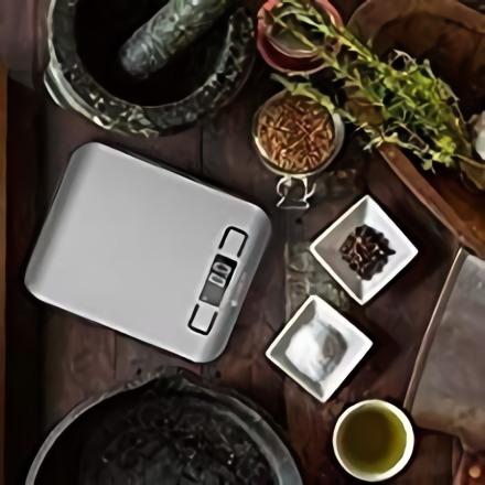 MPM MWK-02M Báscula de cocina digital de acero inoxidable, alta precisión pasos 1g pesa alimentos hasta 5Kg, display LCD, función tara, multifunción