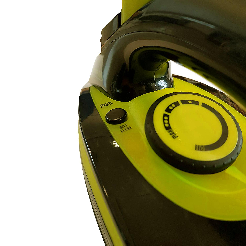 MPM MZE-04/C Plancha ropa vapor Suela cerámica, vapor Vertical, Golpe de Vapor, autolimpieza, antigoteo, 7 Funciones, depósito 330ml, 2800 W