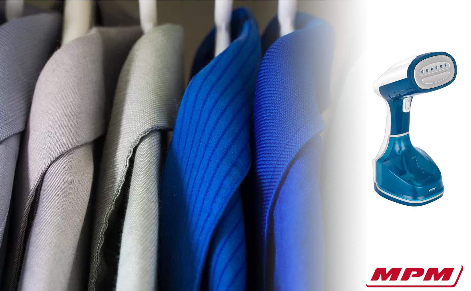 MPM MZP-02 Plancha Vapor Vertical para planchado de ropa colgada, cortinas, sábanas, en horizontal y vertical, golpe vapor 250gr/min., depósito 250ml, genera vapor en 30seg