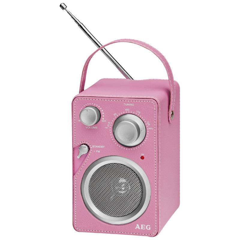 AEG Radio de Diseño MR 4144  Rosa