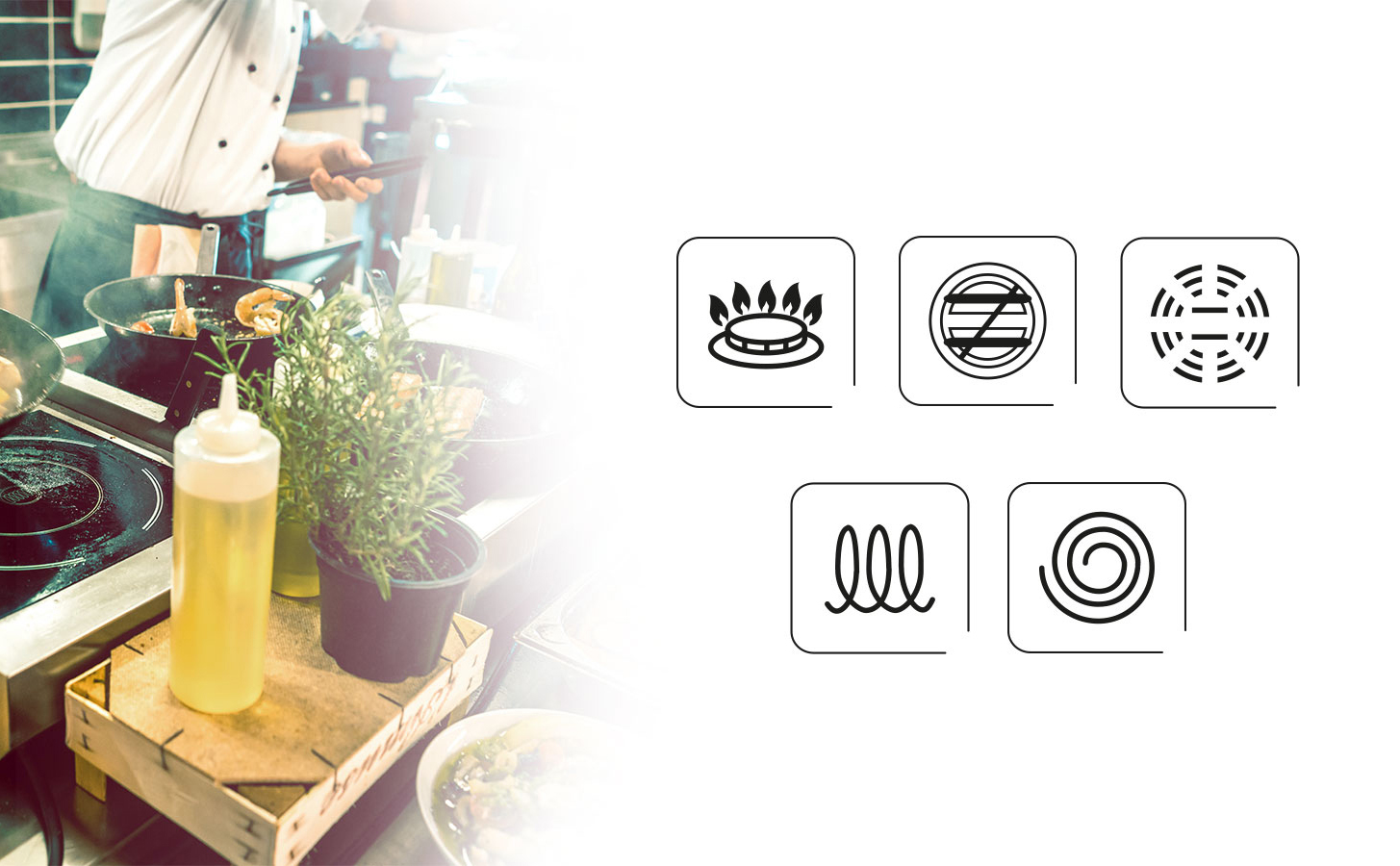 Smile MGK-07 Batería de Cocina Inducción 9 piezas Acero Inoxidable 4 ollas, 1 cazo, 4 tapas cristal, apta para todo tipo de cocinas, libre PFOA