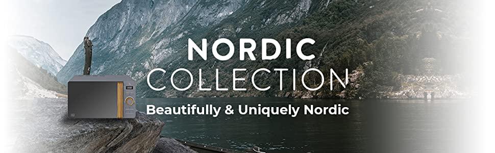 SWAN Nordic Microondas digital 20L, 6 niveles funcionamiento, 800W potencia