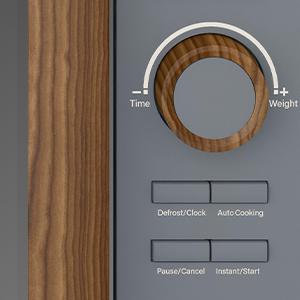 SWAN Nordic Microondas digital 20L, 6 niveles funcionamiento, 800W potencia, temporizador 30 min, fácil limpieza, modo desongelar, diseño moderno, tirador efecto madera