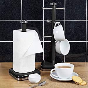 Swan SWKA1030RN Soporte para 6 Tazas café, acero inoxidable alta calidad, vintage diseño retro Rojo