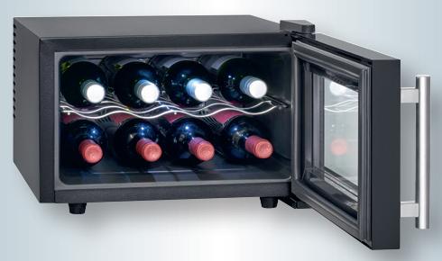 Vinoteca 8 botellas vertical, enfriamiento termoeléctrico