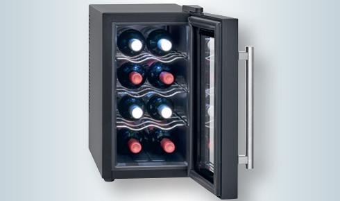 Vinoteca 12 botellas vertical, enfriamiento termoeléctrico