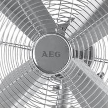 AEG VL 5525 M - Ventilador de mesa metálico estilo retro